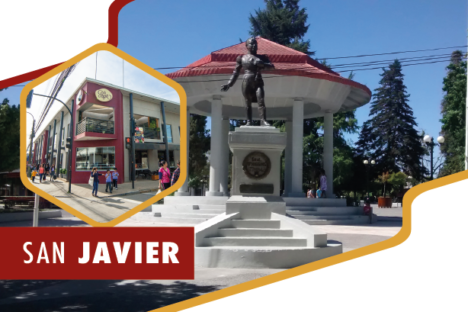 "<p style=""text-align: center;""><span style=""color: #871e1c;"">Sucursal San Javier</p>"